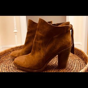 Vince Camuto Bourbon Suede Booties with Tassle